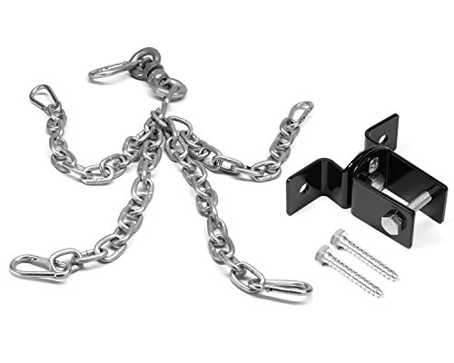 Yes4All Heavy Bag Boxing Chain and Swivel and Wood Beam Heavy Bag Hanger Combo - ²SNGYZ