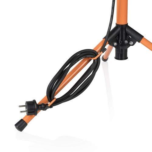 Smartwares Foco FCL-80116 Luz de trabajo con tr/ípode 750 l/úmene color negro  y naranja 2 LED de 10/W