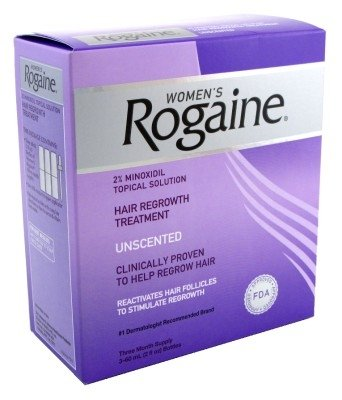 Rogaine Womens Regrowth 2% Unscented 3 Month (3 Pack)