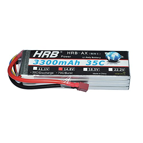 HRB 4S 14.8v 3300mAh 35C Lipo Battery Pack With T PLUG For RC Helicopter Airplane Boat Quadcopter