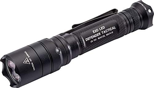 SureFire LED Flashlight, E2D Defender Tactical, Single Output, 1000 Lumens, Black, E2DLU-T