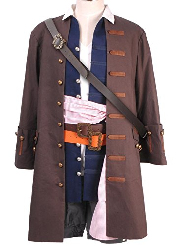 GOTEDDY Pirates Captain Jack Sparrow Costume Cosplay Outfit for Men XXL