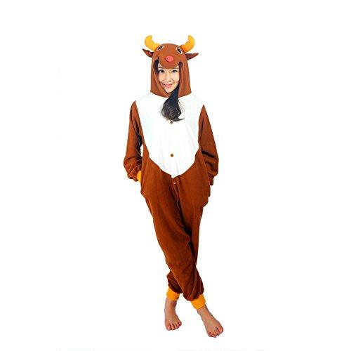 Unisex Adult Deer Pajamas Animal Costume Onesies XL (Plus Size Squirrel Costume)