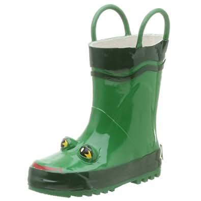 Western Chief Frog Rain Boot (Toddler/Little Kid/Big Kid),Olive Green,3 M US Little Kid