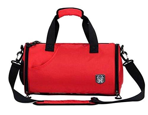Stilvolle Sport-Duffel-Tasche Sporttasche Sporttasche Reisetasche Rot
