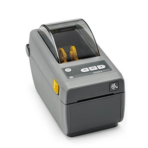 Zebra - ZD410 Wireless Direct Thermal Desktop Printer for Labels, Receipts, Barcodes, Tags, and Wrist Bands - Print Width of 2 in - USB and Bluetooth Low Energy Connectivity