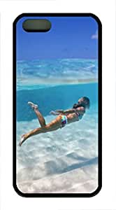 Lmf DIY phone caseiPhone 5 5S Case Girl Swimming Underwater TPU Custom iPhone 5 5S Case Cover BlackLmf DIY phone case