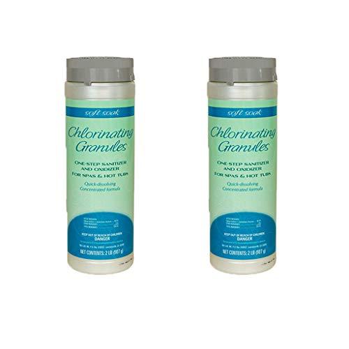 Soft Soak SpaGuard 2 Lb Concentrated Dissolving Granule Chlorinate Hot Tubs (2)