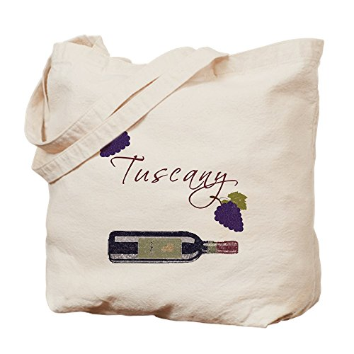 CafePress - Tuscany - Natural Canvas Tote Bag, Cloth Shopping Bag (Tuscany Wine Tote)
