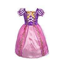 Princesa Rapunzel de Dressy Daisy Girls 'Dress Up Cuentos de hadas Cosplay Fiesta Tamaño 2T