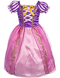 Girls' Princess Rapunzel Dress up Fairy Tales Costume Cosplay Party