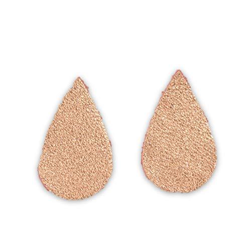 (12pk-Leather Micro Teardrop Die Cut Caesar Copper Coin