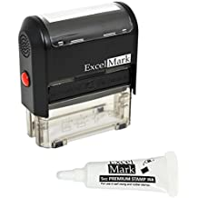 ExcelMark 5-Line Large Return Address Stamp - Custom Self Inking Rubber Stamp - Customize Online with Many Font Choices - Large Size (Custom Stamp with 5cc Refill Ink)