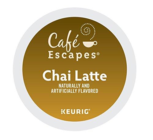 Café Escapes Keurig Single-Serve K-Cup Pods, Chai Latte, 24 Count