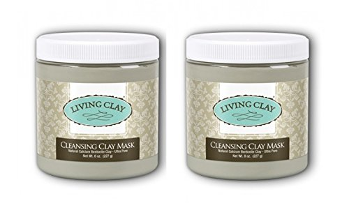 Living Clay Cleansing Clay Mask (Pack of 2) with Natural ...
