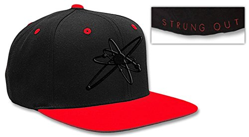 Strung Out- Astrolux Logo Snapback Hat 1 x 1in