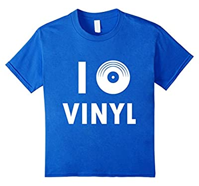 I LOVE VINYL SHIRT - 45 Record Turntable DJ Shirt