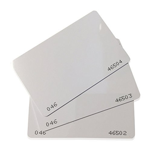 50 pcs 26 Bit Proximity CR80 Cards Weigand Prox Blank Printable Swipe Cards Compatable with ISOProx 1386 1326 H10301 format readers. Works with the vast majority of access control systems