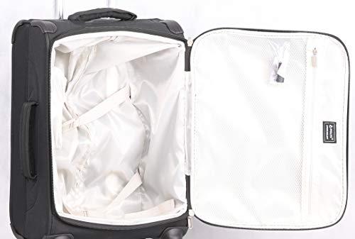 b408d318f200 Aerolite 21 Inch Carry On Lightweight 4 Wheel Spinner Suitcase & Flight Bag  Under Seat Shoulder Bag Set