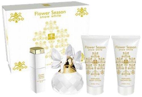 Jean Pierre Sand Coffret Flower Season Snow White pour Femme 100 ml + Eau de Parfum 15 ml + Lotion Hydratante 120 ml + Gel Douche 120 ml ZI258