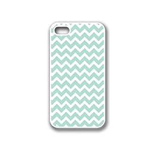 CellPowerCasesTM Mint Chevron iPhone 4 Case White - Fits iPhone 4 & iPhone 4S hjbrhga1544