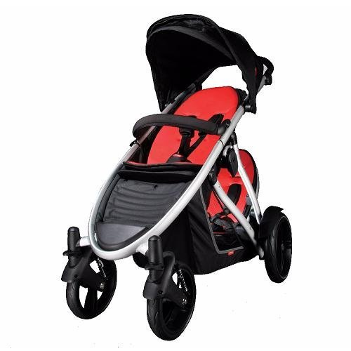 Phil & Teds Verve Baby Buggy & Double Kit - Red/Black