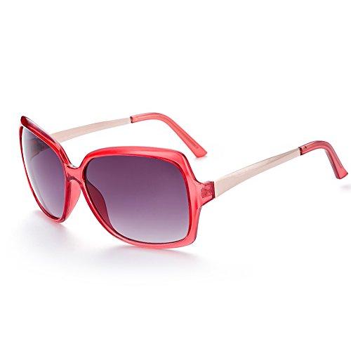 Naivo Women's YJMH079-2 Rejuvating Tone Gradient White Sunglasses, - Sunglases White