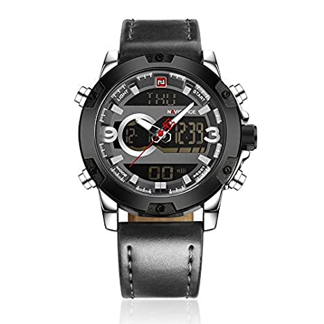 Lovelysunshiny 9096 Reloj de Aguja Digital de 3ATM Impermeable Reloj de Pulsera de los Hombres: Amazon.es: Hogar