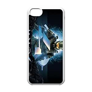 Printed Cover Protector iPhone 5C Cell Phone Case White Halo 4 Shbcr Unique Design Cases