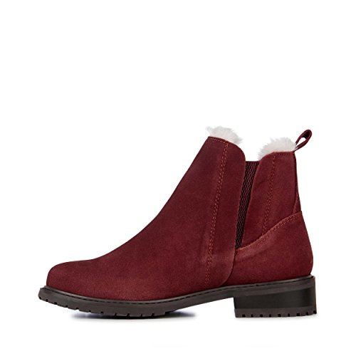Wine Pioneer Waterproof Wool EMU Australia Deluxe Boots Red Womens 75qW4w8