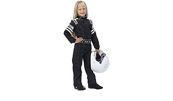 XSmall//Black Simpson Racing Youth LY202171 Legend II One-Piece Suit SFI 3.2A//1
