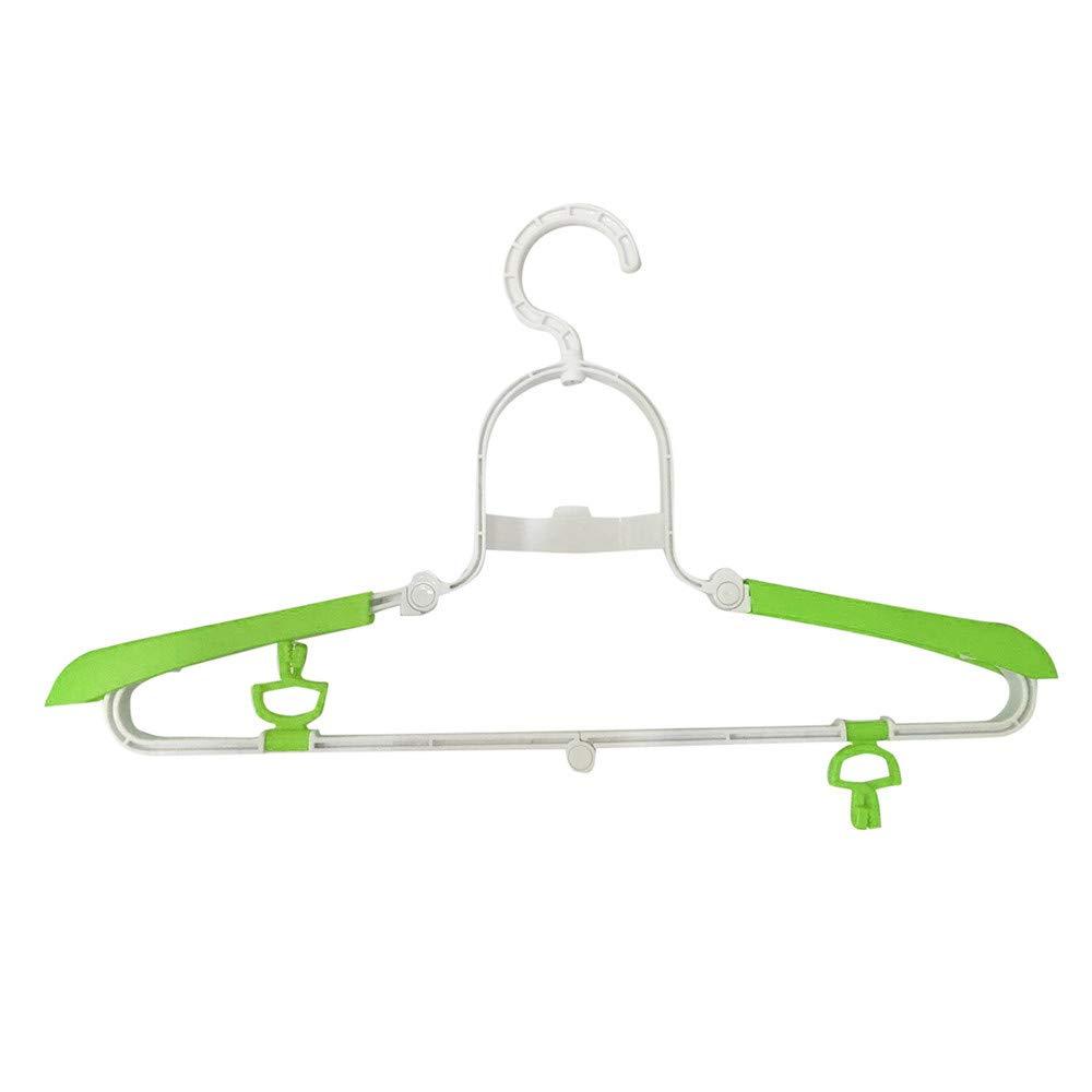 callm Telescopic Hanger New Portable Travel Folding Hanger Multifunctional Telescopic Hanger (Green)