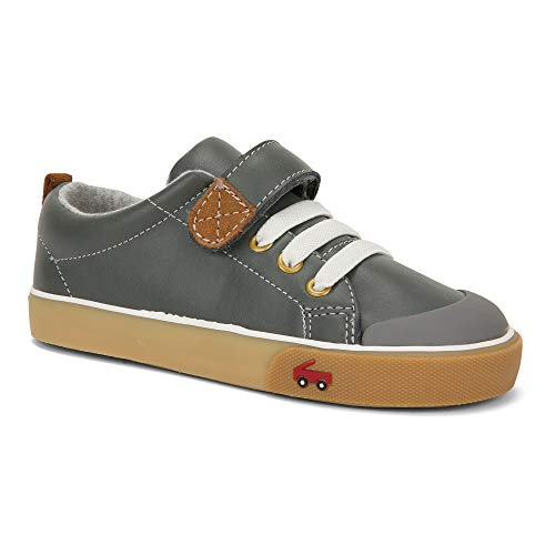 See Kai Run Boy's Stevie Ii Sneaker, Gray Leather, 11 M Little Kid