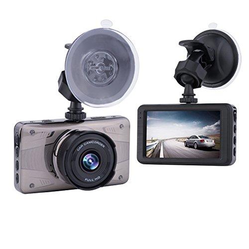 ULU SD02 FHD 1080P Dash Cam 170 Degree View Angle, Dashboard Camera, Car DVR Vehicle Dash Cam with G-sensor, WDR, Loop - True View Optical