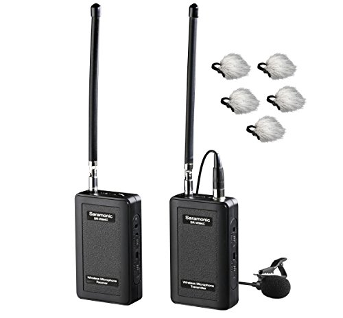 Lavalier Vhf Mic (Saramonic SR-WM4C Wireless 4-Channel VHF Lavalier Omnidirectional Microphone System (200' Range) for DSLR Cameras & Camcorders with Bonus