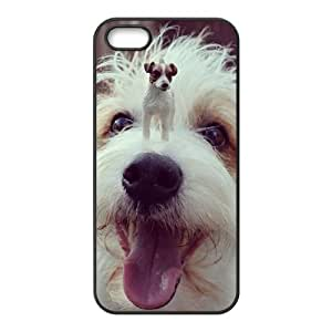 Fashion dog Personalized iPhone 5 5S Rubber Silicone Case Cover by icecream design