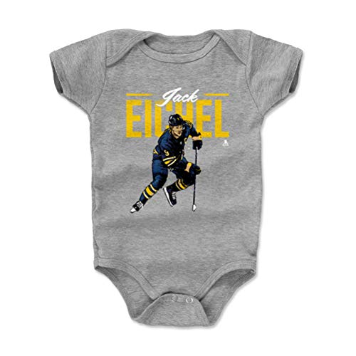 500 LEVEL Jack Eichel Buffalo Sabres Baby Clothes, Onesie, Creeper, Bodysuit (3-6 Months, Heather Gray) - Jack Eichel Retro Y WHT