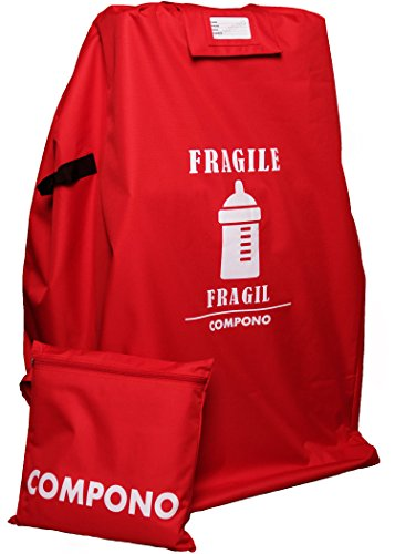 Stroller Travel Bag for Airplane - Large Standard or Double Stroller Gate Check Bag by COMPONO