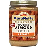 MaraNatha, No Stir Almond Butter, Creamy, 12 oz (340 g) by MaraNatha Foods