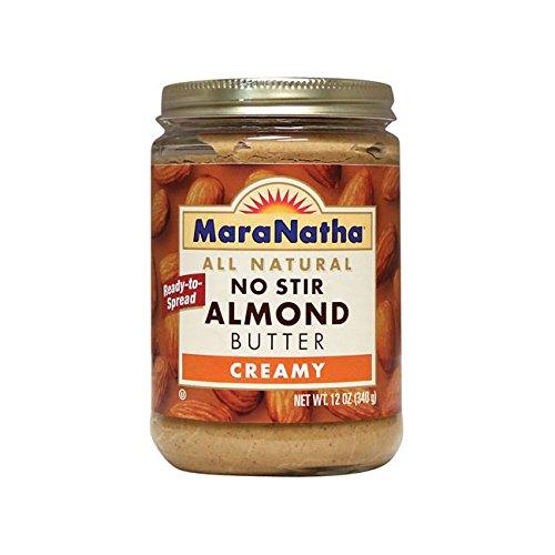 Stir Creamy (MaraNatha, No Stir Almond Butter, Creamy, 12 oz (340 g) by MaraNatha Foods)