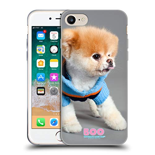 Official Boo-The World's Cutest Dog Sweater Portraits Soft Gel Case for iPhone 7 / iPhone 8