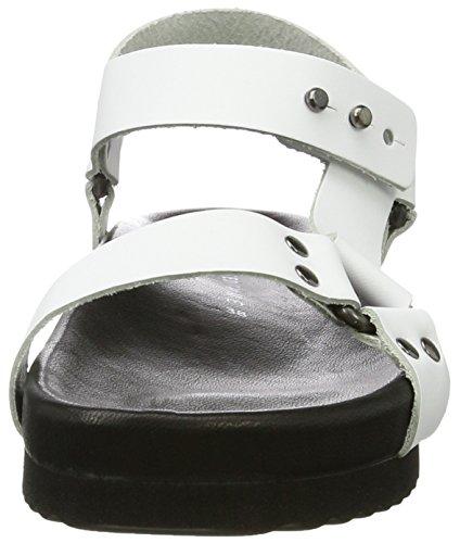 SELECTED FEMME Sfamanda Sandal, Sandalias Abiertas para Mujer Blanco (White)