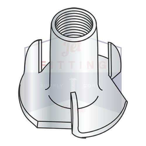 4-40X1/4 3 Prong Tee Nuts | Straight Barrel | Steel | Zinc (QUANTITY: 5000)