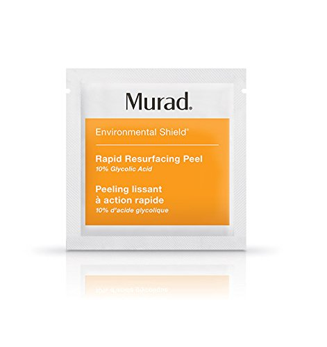 Murad Rapid Resurfacing Anti-Aging Peel - (16 pack), A Powerful Blend of 10% Glycolic Acid and Vitamin C That Instantly Retexturizes Skin, Enhances Radiance, and Evens Tone Without Irritation. Murad Glycolic Acid