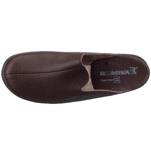 Romika Mokasso 202 G 71002 96 100 - Zapatillas de casa para hombre Marrón (Braun (Mokka304))