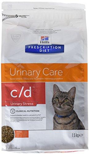 Hill`s Alimento Dietético para Gato C/D - 2 Paquetes de 1500 gr - Totale: 3000 gr: Amazon.es: Productos para mascotas