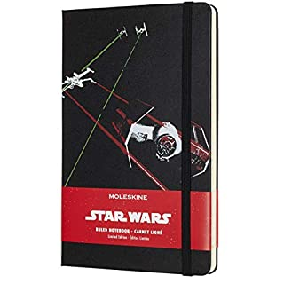 "Moleskine Limited Edition Star Wars Notebook, Hard Cover, Large (5"" x 8.25"") Ruled/Lined, 240 Pages"