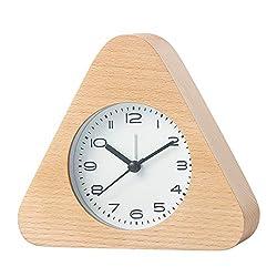 Artinova Classic Clock, Wooden Handmade, Silent Desk Alarm Clock with Nightlight for Home/Bedroom/Office, ARTA-3036