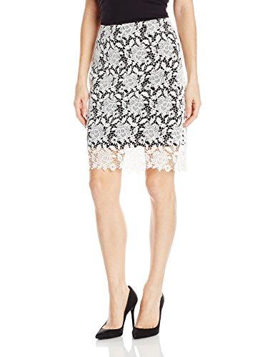 - T Tahari Women's Carolina Skirt, Black/Antique, 12
