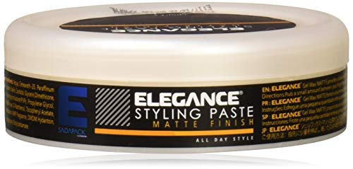 ELEGANCE GEL Elegance Hair Styling Paste - Matte Finish, 5 oz.